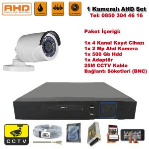 1 Kameralı Ahd Set – 2 Mp Kamera