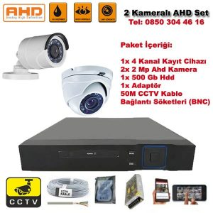2 Kameralı Ahd Set – 2 Mp Kamera