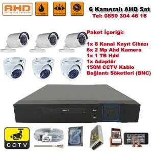 6 Kameralı Ahd Set – 2 Mp Kamera